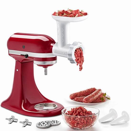 历史新低!ANTREE KitchenAid 厨师机专用 绞肉/灌肠通用配件5折 29.22加元!