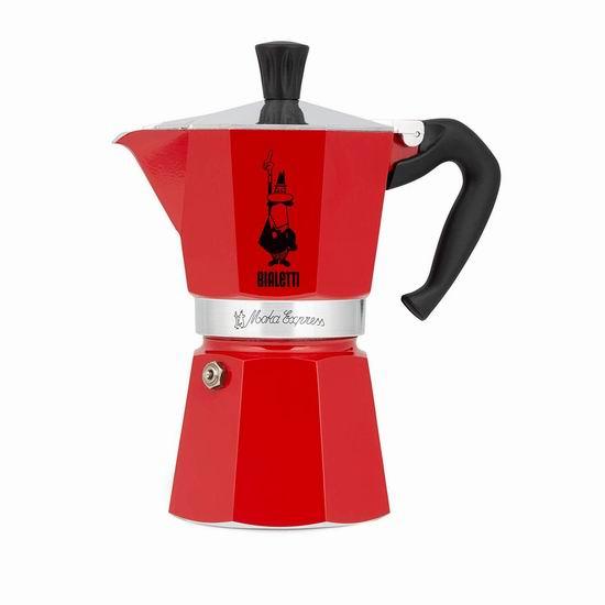 近史低价!Bialetti 06633 Moka 6杯量 摩卡咖啡壶 39.97加元包邮!