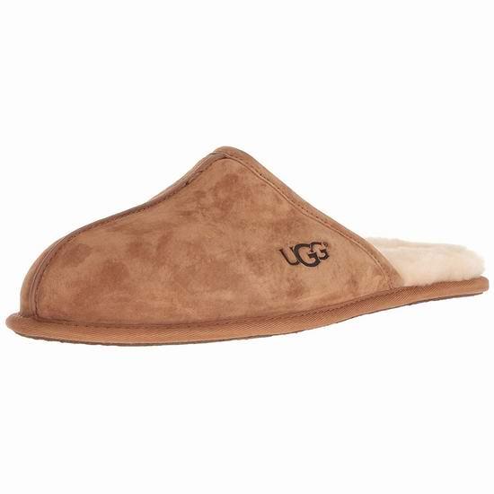 手慢无!UGG Scuff 男式羊毛拖鞋 60加元包邮!2色可选!