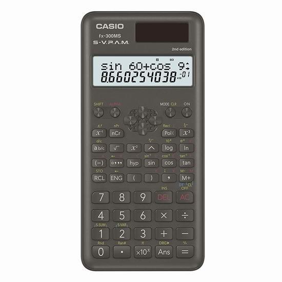 历史新低!Casio 卡西欧 FX-300MS Plus 2 科学计算器5折 11.99加元!
