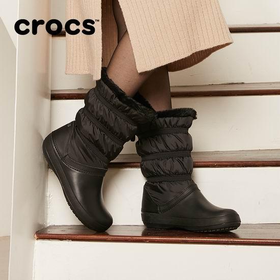 Crocs卡洛驰冬季大促!精选雪地靴、暖绒拖鞋、洞洞鞋4折起+额外满减20加元!内附单品推荐!