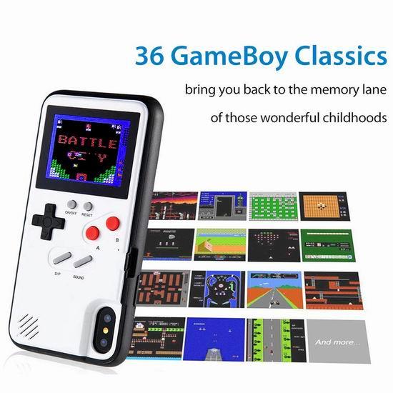 pemsem Gameboy 复古彩屏掌上游戏机 iPhone 6/7/8/X/XS/11 手机壳 22.16加元限量特卖!