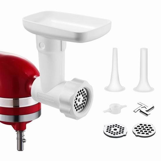 历史新低!InnoMoon KitchenAid 厨师机专用 绞肉/灌肠通用配件 35.99加元包邮!