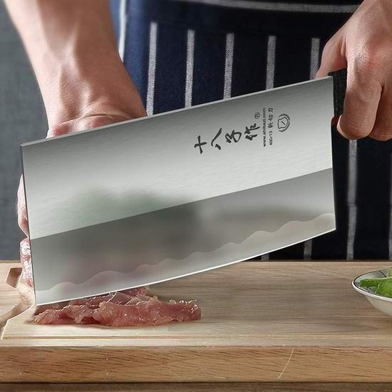 新货上架!阳江十八子作 7英寸 二合一 免磨切菜斩骨 中式斩切刀 23.99加元!