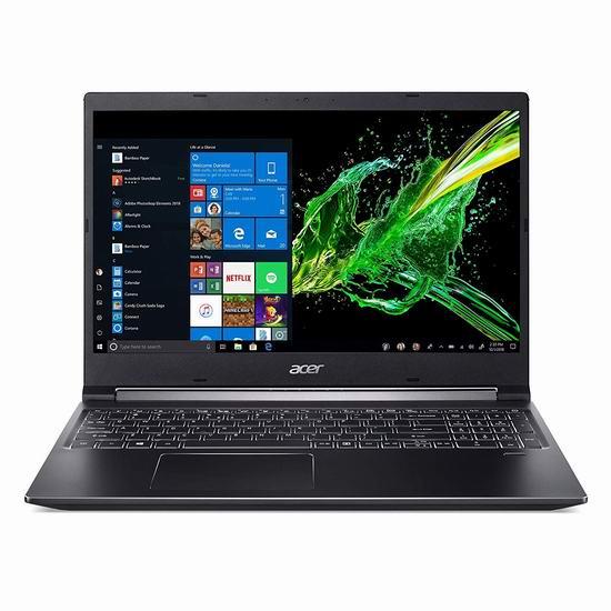 历史新低!Acer 宏碁 Aspire 7 15.6英寸超薄笔记本电脑(Ci7 9750H, 16GB, 512 SSD, GTX 1650 4GB) 1199.99加元包邮!