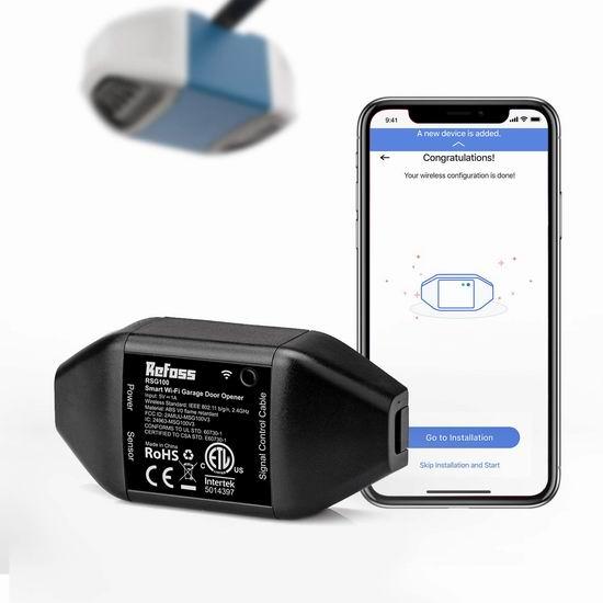 历史新低!Refoss 智能车库开门器 50.98加元包邮!支持手机遥控、Alexa、Google语音控制!2色可选!