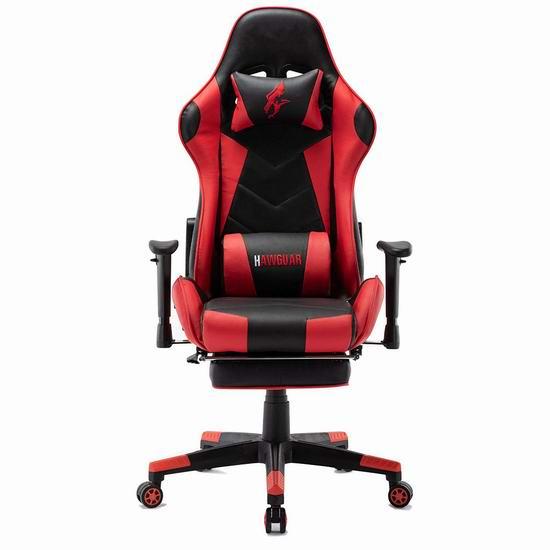 HAWGUAR 人体工学 高靠背赛车办公椅/游戏椅 176.99加元特卖并包邮!4色可选!