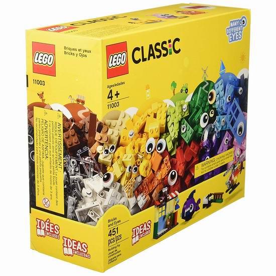 LEGO 乐高 Classic 11003 大眼睛创意积木套装(451pcs)6.3折 29加元!