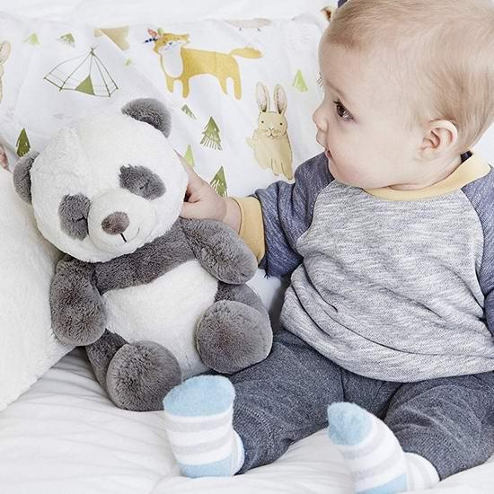 白菜价!历史新低!Cloud B 多功能婴儿 安抚助眠 音乐大熊猫娃娃2.4折 13加元清仓!