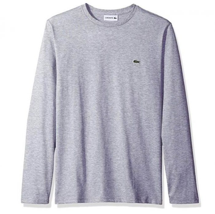 Lacoste Standard 圆领长袖T恤 4折 31.27加元,原价 77.35加元