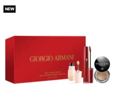 Giorgio Armani 阿玛尼新年唇彩3件套 含红管丝绒唇釉405  82加元,原价 102加元(价值 144加元)