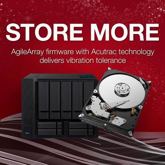 近史低价!Seagate 希捷 IronWolf 酷狼 8TB 网络存储器NAS 存储服务器专用硬盘 252.99加元包邮!