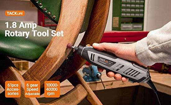 历史新低!Tacklife RTD36AC 1.8安培 变速电磨工具套装 44.97加元包邮!免税!