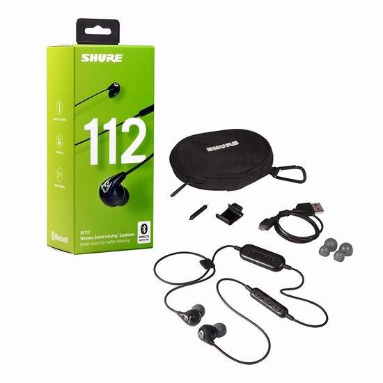 历史新低!Shure 舒尔 SE112-K-BT1 蓝牙无线HIFI隔音耳机 3.9折 58.54加元包邮!