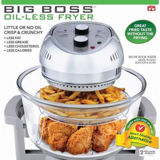 Big Boss 16夸脱大容量 高速无油空气炸锅 96.99-99.89加元包邮!4色可选!