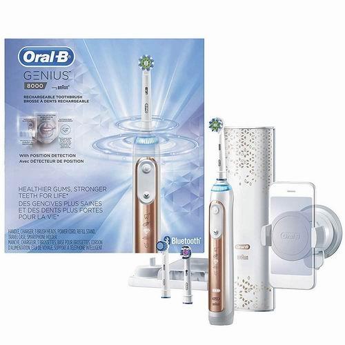 Oral-B Power Genius 8000蓝牙智能电动牙刷 5.7折 153.99加元,原价 269.99加元,包邮