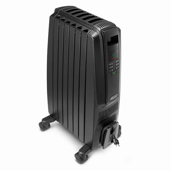 历史新低!Delonghi 德龙 TRD40615EBKCA Dragon 数字程控电热油汀 118.99加元包邮!御寒神器、保暖又省电!