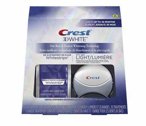 Crest 3D 美白牙贴10张 /美白蓝光仪 6.6折 79.29加元,原价 119.99加元,包邮