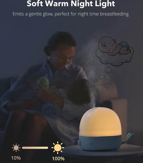 TaoTronics 婴儿鲸鱼形柔和小夜灯/静音加湿器 2.5升 33.8加元,原价  49.99加元