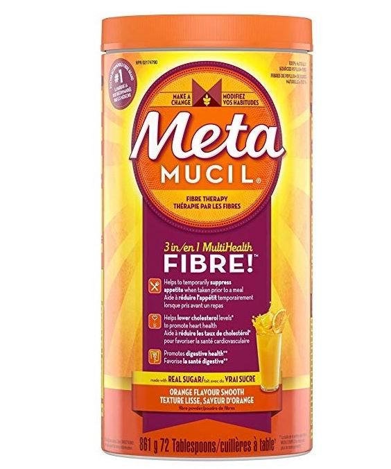 MetaMucil 香橙味 纯天然吸油膳食纤维 11.82加元!清肠排毒,减肥必备!