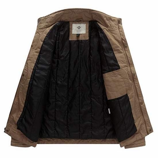 白菜价!WenVen 军旅风 男式纯棉派克保暖外套/夹克2.7折 16.98加元清仓!4色可选!