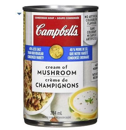Campbell's 低盐奶油蘑菇汤 284毫升 1加元