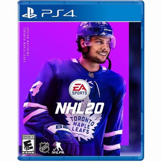 历史新低!《NHL 20 :北美职业冰球联赛20》 PS4游戏2.5折 9.96加元清仓!