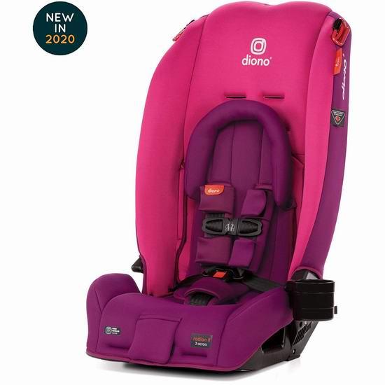 2020新款 Diono 谛欧诺 radian 3RX 成长型儿童汽车安全座椅 318.89加元包邮!5色可选!