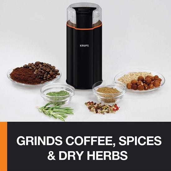 历史最低价!Krups GX332850 三合一 静音强力 咖啡豆/香料/药材研磨机5.7折 39.99加元包邮!