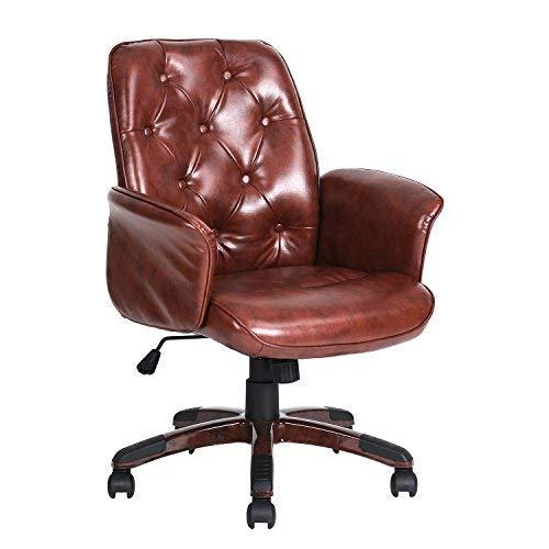 白菜价!Homy Casa 时尚PU皮 旋转办公椅2.2折 63.99-65.99加元包邮!2款可选!