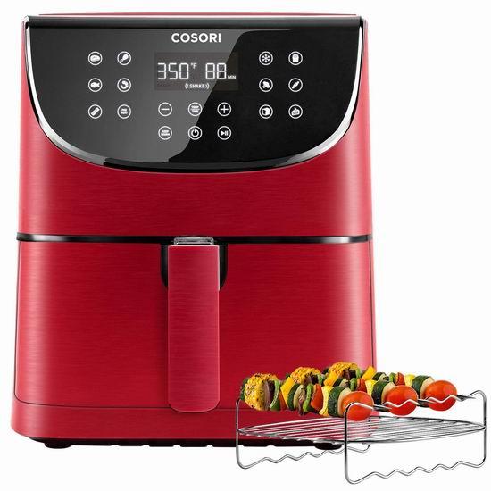 COSORI 5.8夸脱大容量 智能空气炸锅 135.99加元限量特卖并包邮!3色可选!