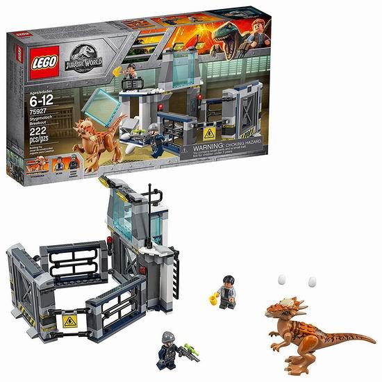 历史新低!LEGO 乐高 75927 冥河龙实验室大逃亡(222pcs)4.8折 19加元!