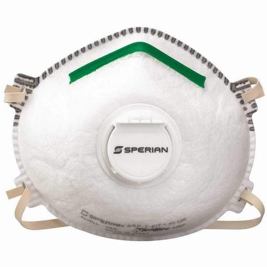 亚马逊现货!Sperian Protection 带呼吸阀 N95口罩(20件) 75加元包邮!