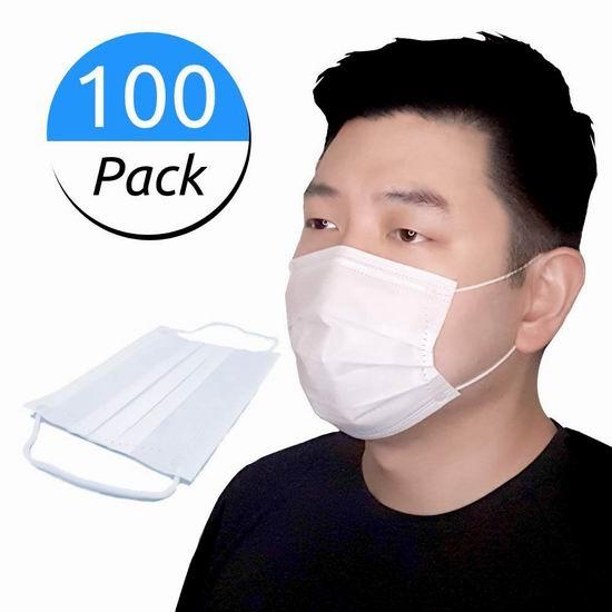 亚马逊现货!Ainta Premium 一次性 三层防流体飞沫 防护口罩(100件)67.99加元包邮!