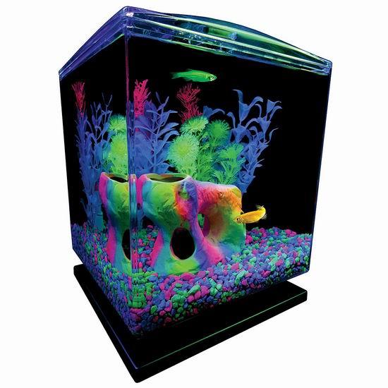 Tetra 29236 1.5加仑 GloFish 荧光鱼 水族箱/鱼缸套装 35.97加元包邮!