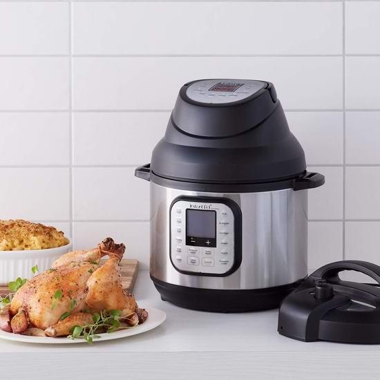 新品 Instant Pot 多功能空气炸锅 六合一电锅盖 99.99加元包邮!