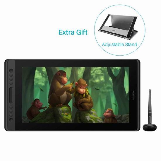 Huion 绘王 KAMVAS 凯卓 Pro 16 手绘数位屏 509.15加元限量特卖并包邮!