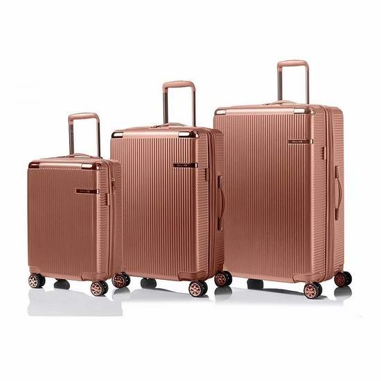 白菜价!精选多款 Champs Luggage 轻质硬壳拉杆行李箱3件套1.5折 127.5加元包邮!