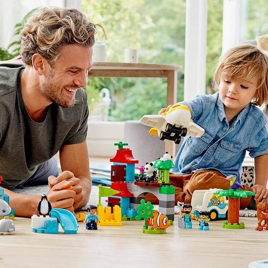 历史新低!LEGO 乐高 Duplo 10907 环球动物(121pcs)6.2折 80.95加元包邮!