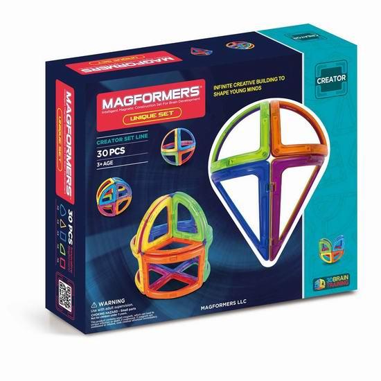 白菜价!历史新低!Magformers 63002 Creator 益智磁力积木30件套2.8折 22.95加元清仓!