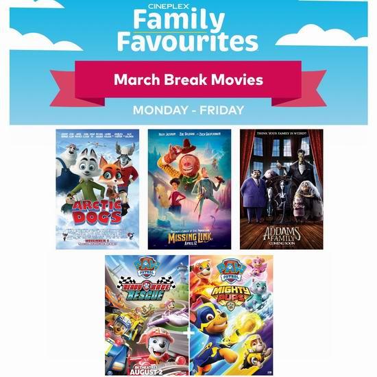 Cineplex 春假周每天播放4部热门动画电影,仅需2.99加元!