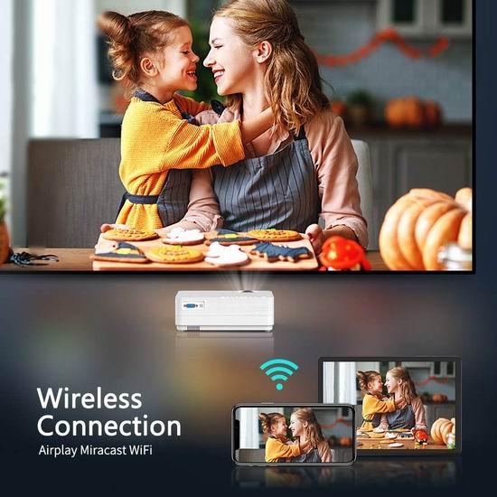 VANKYO LEISURE 470 4000流明 WiFi无线 家庭影院投影仪 138.71加元限量特卖并包邮!
