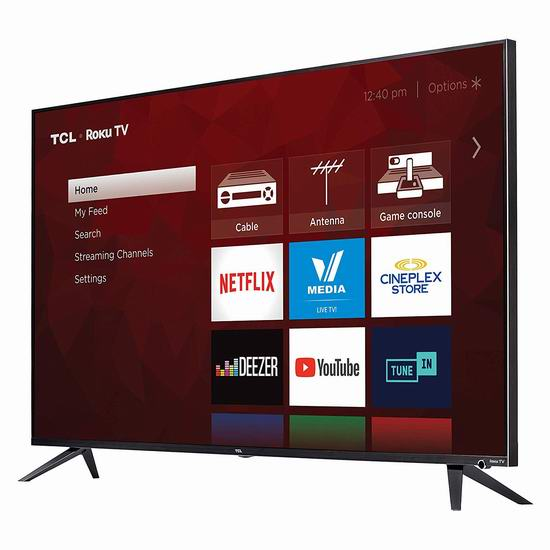 历史新低!TCL 6系列 65R617-CA 65英寸 4K超高清智能电视6.8折 849.99加元包邮!