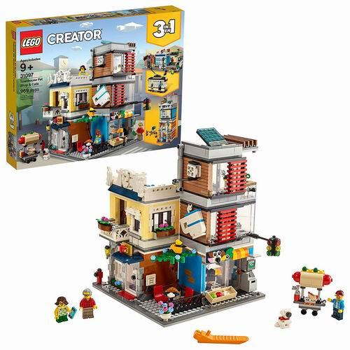 LEGO 乐高 31097 创意百变3合1 宠物店和咖啡厅排楼(969pcs) 79.99加元包邮!