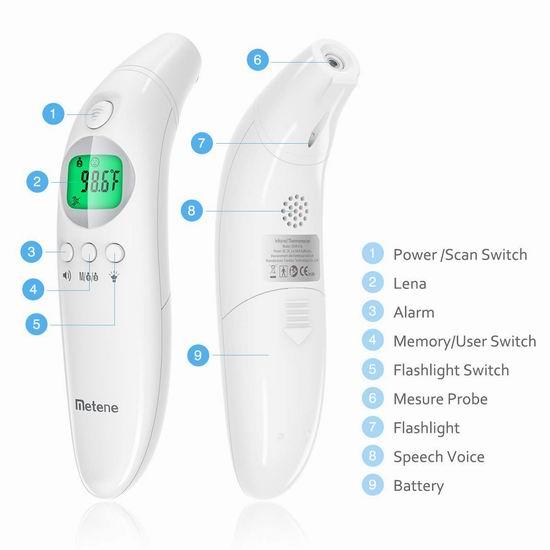 2020新款 SANPU 红外数字温度计/体温计/耳温枪 52.99加元包邮!