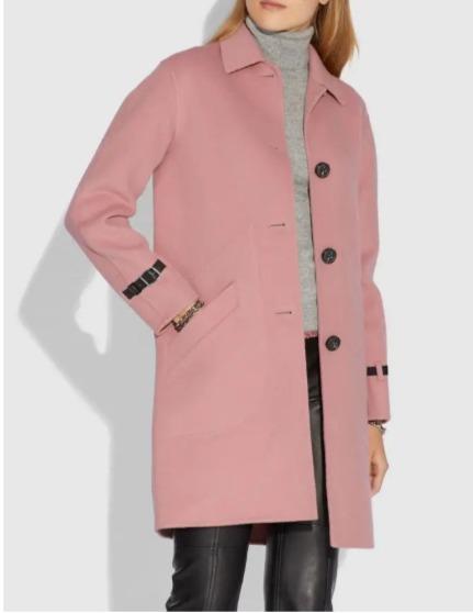 Coach 单排扣羊毛大衣 3折 330加元(2色),原价 1100加元,包邮