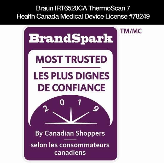 Braun 德国博朗 IRT6520CA ThermoScan 7 耳温枪 58.37加元包邮!