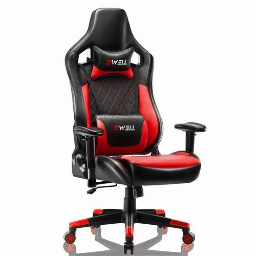 EDWELL Racing 人体工学 高靠背赛车办公椅/游戏椅 169.99加元限量特卖并包邮!3色可选!