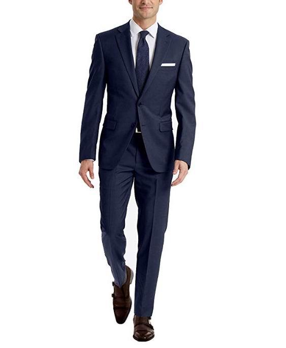 Calvin Klein 男士羊毛西装 68.18加元,原价 268.79加元,包邮