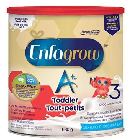 Enfagrow 美赞臣 A+ 幼儿配方奶粉 20.48加元起!2种口味可选!